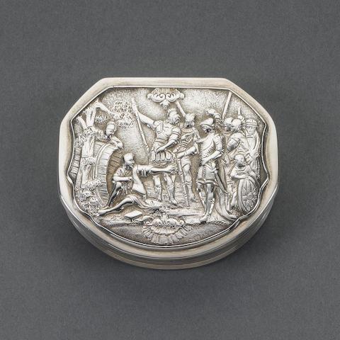 A George IV silver snuff box, by Thomas Shaw, Birmingham 1825,