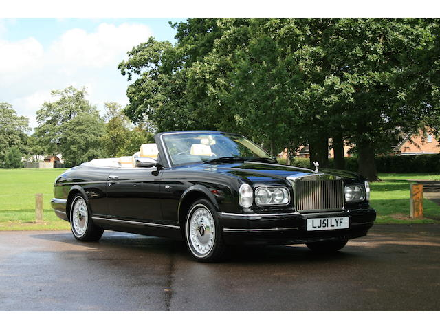 18,000 miles from new,2001 Rolls-Royce Corniche Convertible  Chassis no. SCAZK29E21CH68620 Engine no. 102651L410M/T2T/R