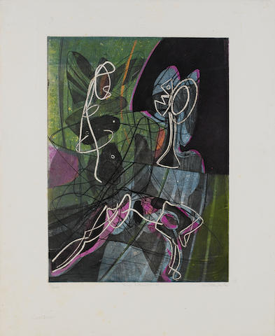 Stanley William Hayter (British, 1901-1989) La Lecon d'anatomie Engraving, aquatint, soft-ground etc