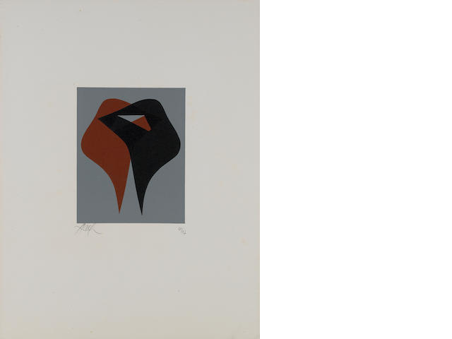 Hans (Jean) Arp (French, 1887-1966) Composition Woodcut in colours, circa 1960, on wove, with wide m