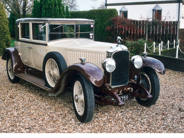 1926 Vauxhall 25/70hp Ormonde Sporting Saloon  Chassis no. S31 Engine no. S31