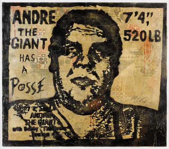 Shepard Fairey (American, born 1970) 'OG Andre', 2008
