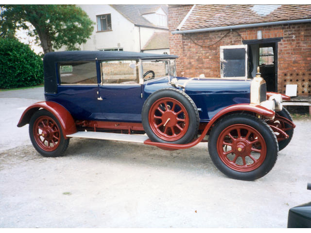 1919 Clement Talbot 25/50hp 4 ½ litre Type 4SW Allweather Tourer  Chassis no. SW10206 Engine no. 372SW