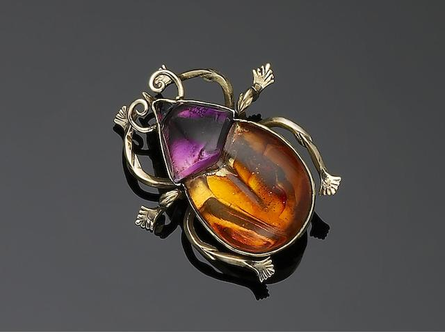 A beetle brooch,