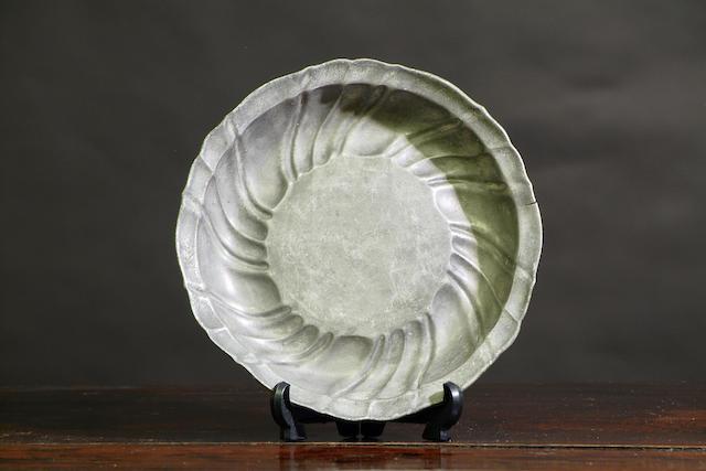 An 18th Century Wrythen rococo bowl, German
