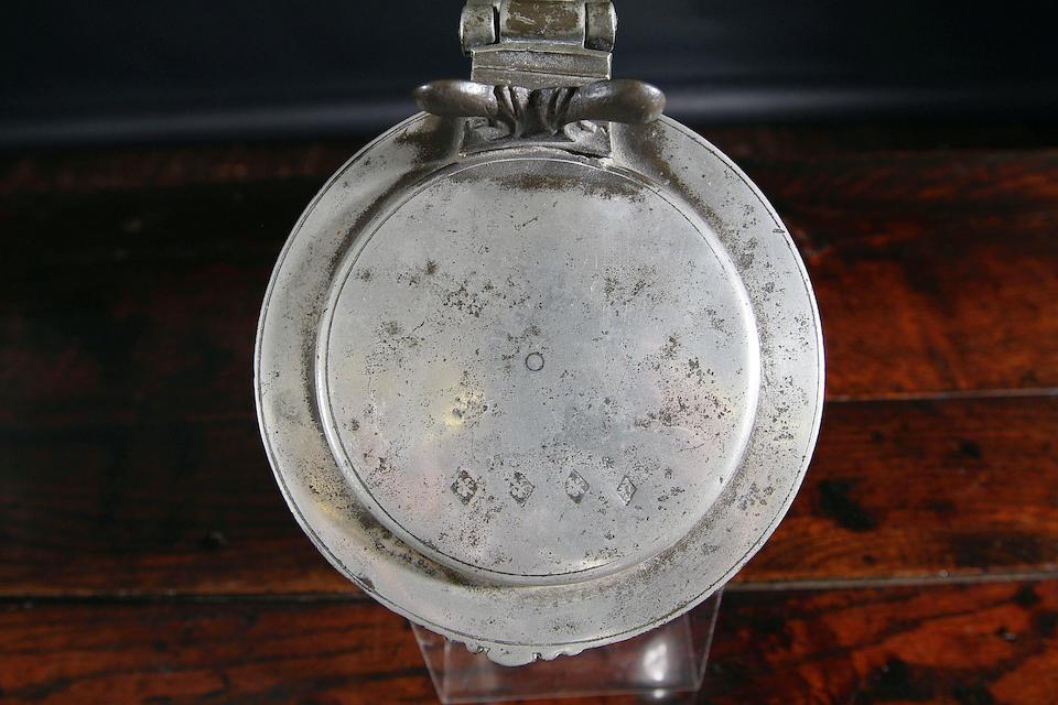 A Stuart flat lid tankard, circa 1670