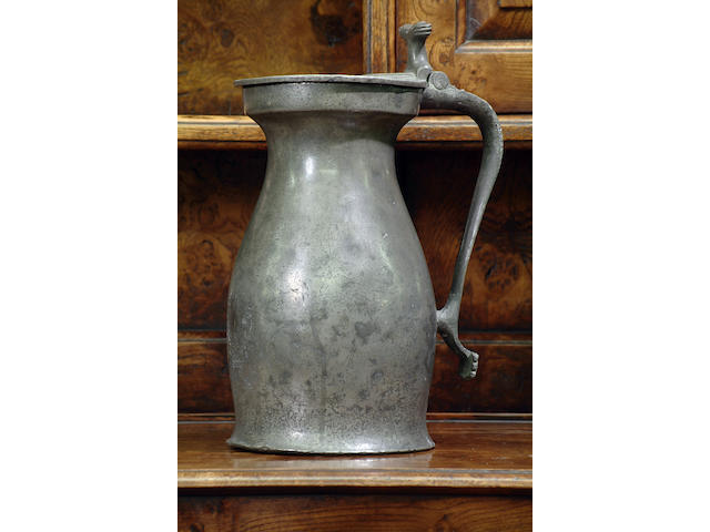 A Gallon bud baluster measure, circa 1740