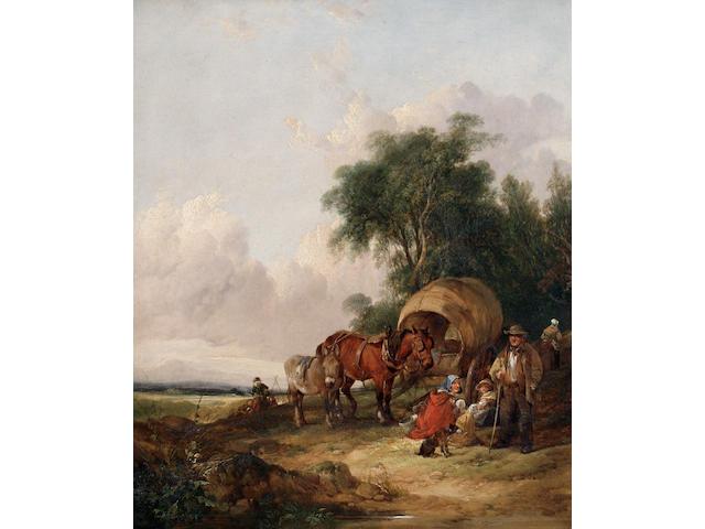 William Joseph Shayer (British, 1811-1891) The travellers' rest