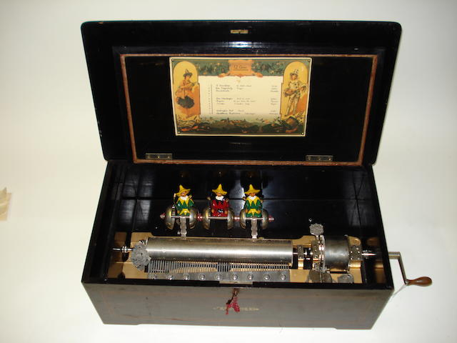 A Manderin-Striker automaton cylinder musical box, by Mermod Frerés,