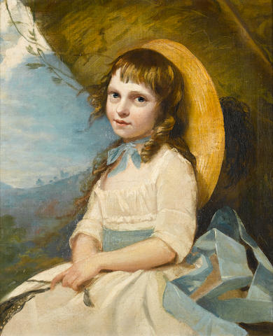 Circle of John Russell (Guildford 1745-1806 Hull) Portrait of a young girl,