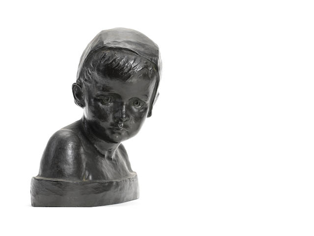 Marie-Anne Cranney-Franceschi (1883): A bronze bust of a child