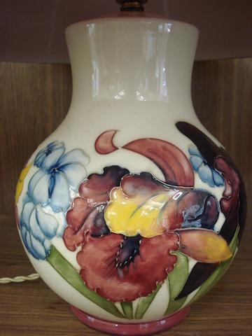 A Moorcroft table lamp