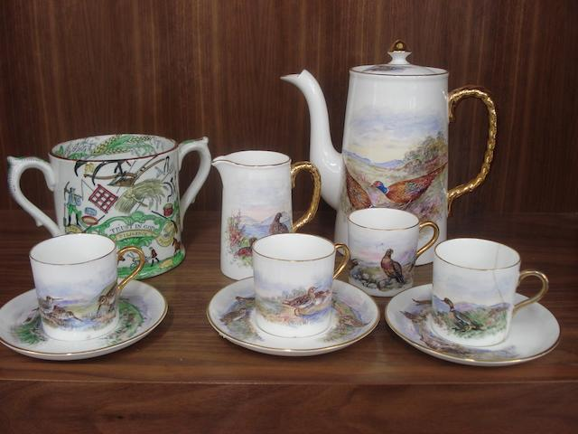 A part Aynsley coffee set  20th century