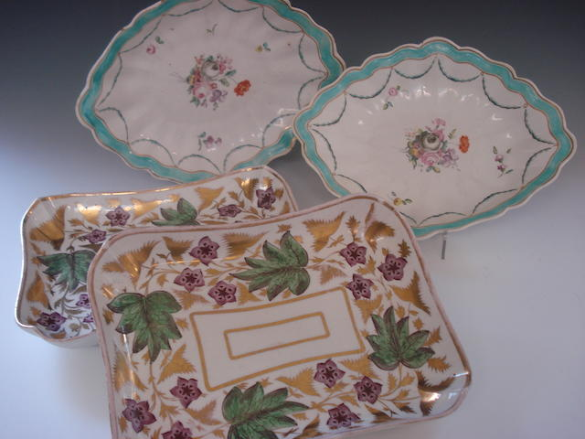 A pair of Derby dessert plates early 19th century
