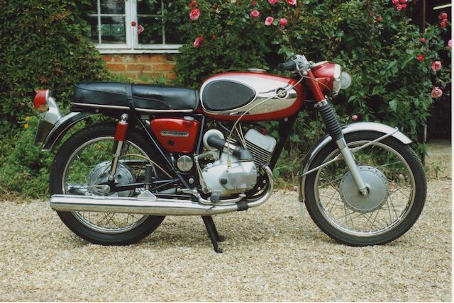 3,831 miles from new,1970 Bridgestone 175cc Dual Twin  Frame no. TA1-27562 Engine no. TA1-27665