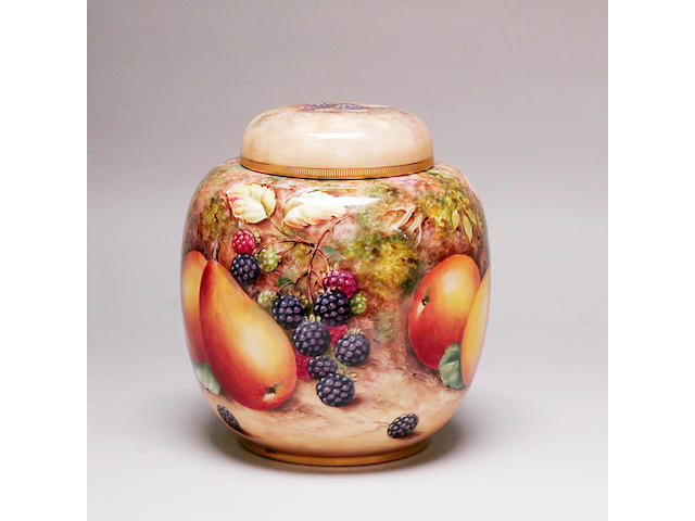 A late 20th century Royal Worcester ginger jar