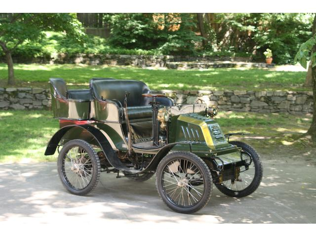 1901 Hurtu 4½ hp Rear-Entrance Tonneau  Chassis no. 2051 on plate 2053 on chassis Engine no. 5388