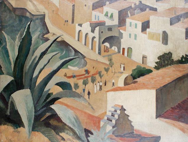 Iain MacNab (British, 1890-1967) Townscape
