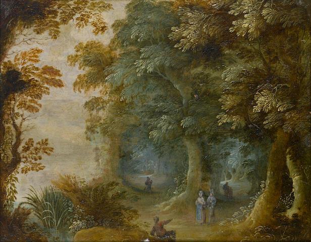 Flemish School, Wooded landscape