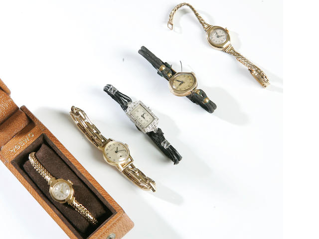 A collection of lady's wristwatches