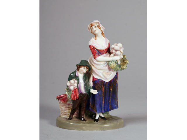 A rare Royal Doulton figure 'London Cry Turnips and Carrotts'