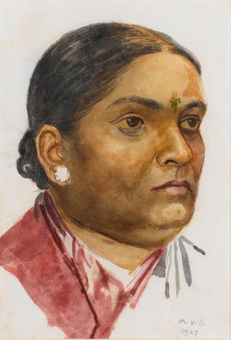 Mahadev Viswanath Dhurandhar (India, 1867-1944) The Artist's father, a Prabhu Pathare Maratha; Gangu