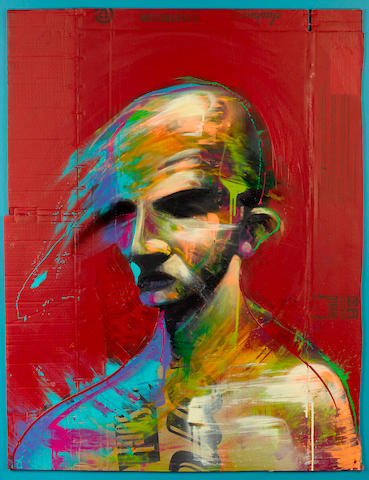 Adam Neate (British, born 1977) 'Jackson, Red Portrait', 2007
