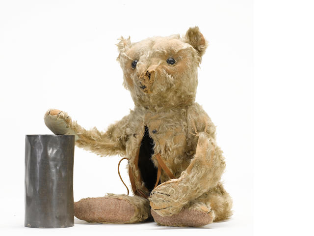 Extremely rare Steiff hot-water bottle Teddy bear, circa 1907