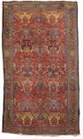 A Bidjar carpet Persian/Kurdistan (13 ft 3 in x 7 ft 10 in (403 x 238 cm)wear,missing a few knots at one end