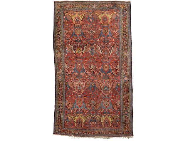 A Bidjar carpet Persian/Kurdistan (13 ft 3 in x 7 ft 10 in (403 x 238 cm)wear,missing a few knots at one end