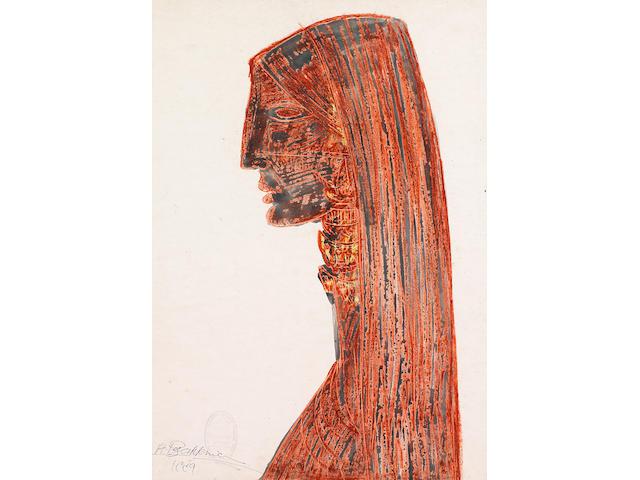 Houshang Pezeshknia (Iran, 1917-1972) The Red Profile