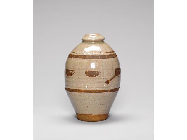 Bernard Leach an early Vase, circa 1935 Height 26.5cm (10 3/8in.)
