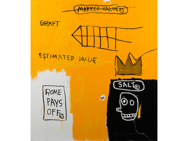 Jean-Michel Basquiat (American, 1960-1988) Rome Pays Off