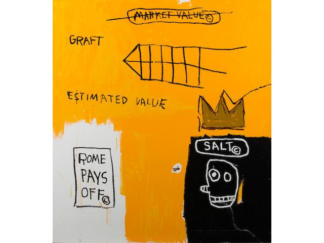 Jean-Michel Basquiat (American, 1960-1988) 'Rome Pays Off', 2004