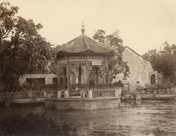 CANTON  Seven architectural views in Canton (Guangdong), 1870s