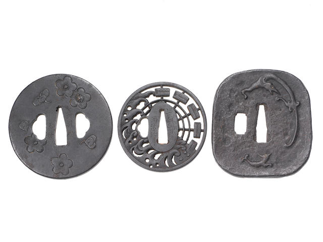 Ten Choshu and Bushu tsuba Edo Period