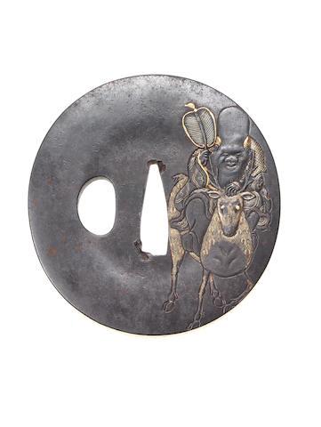 A kinko tsuba Edo Period