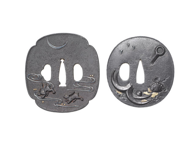 Two iron tsuba Edo Period