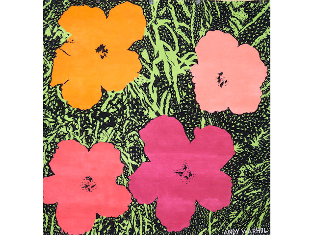 Andy Warhol (American, 1928-1987) Flowers carpet, from an edition of 20, published by Edition Ewald Kroener, Karlsruhe, Germany.