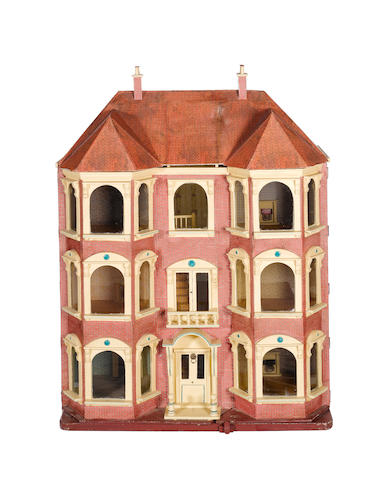 Large Lines Brothers dolls house, English circa 1895
