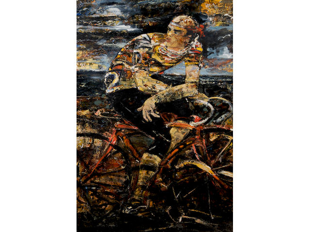 Peter McLaren (British, 1964) 'Cyclist, 1990'