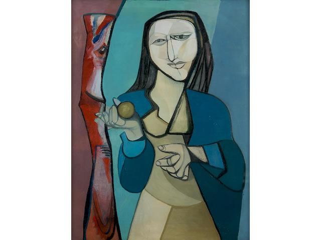 Robert Colquhoun (British, 1914-1962) Portrait of Erica Pomerans