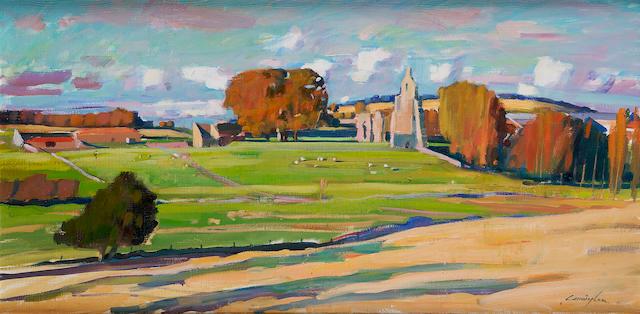 "John Cunningham (British, 1927-2000) ""Struthers Castle, Fife"""