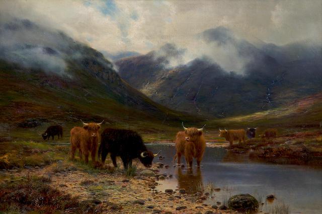 """Louis Bosworth Hurt (British, 1856-1929) """"In Ardgour"""""""
