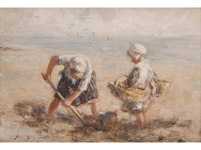 Robert Gemmell Hutchison (Scottish, 1855-1936) Dig in the Sand