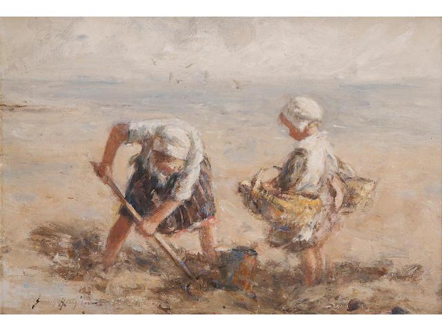 Robert Gemmell Hutchison, RSA RBA ROI RSW (British, 1855-1936) Dig in the Sand