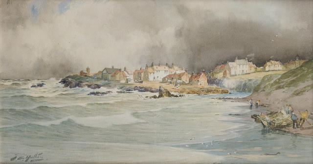 Thomas Swift Hutton (British, 1875-1935) A coastal village