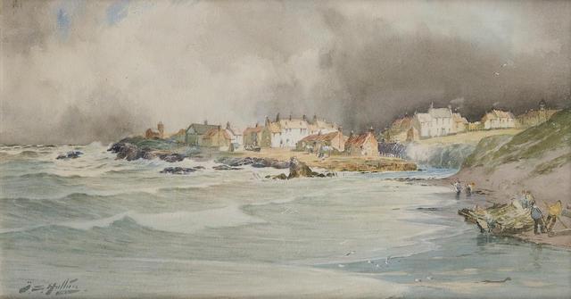 Thomas Swift Hutton (British, 1875-1935) A coastal village