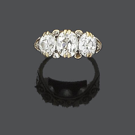 A late 19th century diamond ring