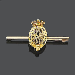 A late 19th century diamond and gem-set bar brooch,